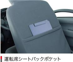 運転席シートバックポケット
