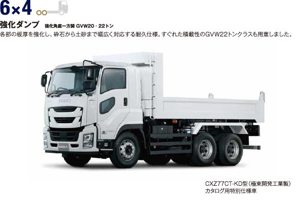 6×4 強化ダンプ 強化角底一方開 GVW20・22トン